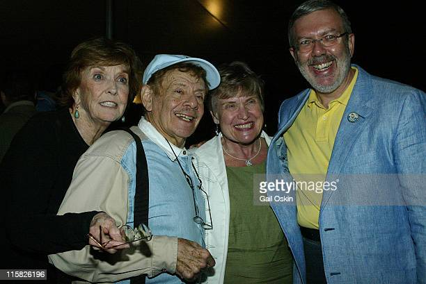 Actress Anne Meara, left, and her husband Jerry Stiller, second left, and Alice Maltin and film critic Leonard Maltin, right, at the 11th Annual...