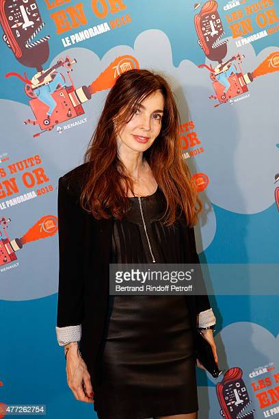 Actress Anne Parillaud attends 'Les Nuits En Or 2015' Dinner at UNESCO on June 15 2015 in Paris France