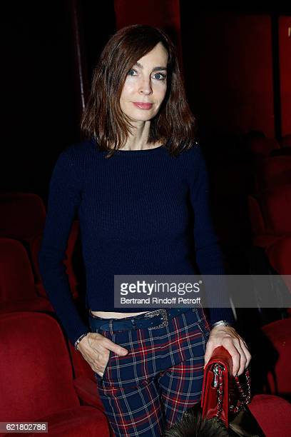 Actress Anne Parillaud attends LouisMichel Colla the Director of the Theatre de la Gaite Montparnasse Celebrates his 60th Anniversary at Theatre de...