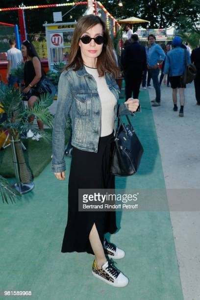 Actress Anne Parillaud attends the Fete Des Tuileries on June 22 2018 in Paris France