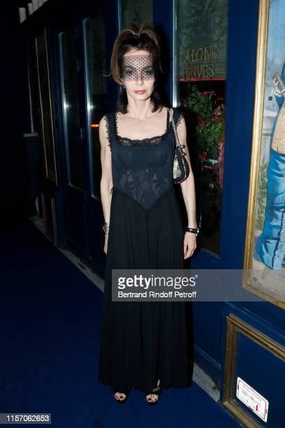 Actress Anne Parillaud attends the Laperouse Mask Ball on the occasion of the inauguration evening of the Laperouse Restaurant as part of Paris...