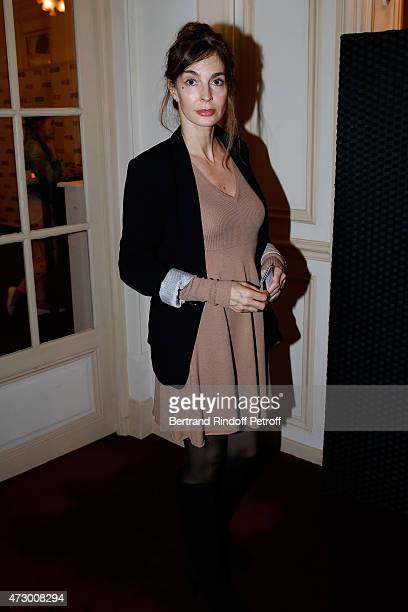Actress Anne Parillaud attends the 'Open Space' Theater Play at Theatre de Paris on May 11 2015 in Paris France