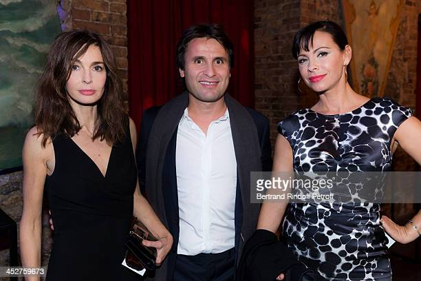 Actress Anne Parillaud former tennis player Favrice Santoro and actress Mathilda May attend the Mimi Foundation gala dinner at Musee des Arts Forains...