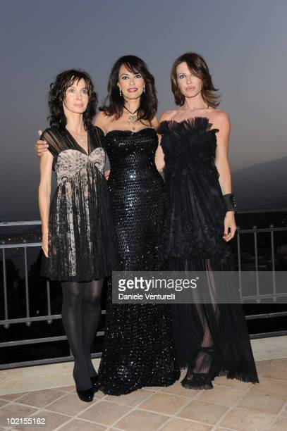 Actress Anne Parillaud Maria Grazia Cucinotta and Natalie Caldonazzo attend the Taormina Arte Award during the Taormina Film Fest 2010 on June 16...