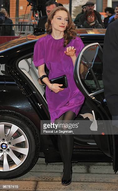 Actress Anne RattePolle arrives at the 'Shahada' Premiere during day seven of the 60th Berlin International Film Festival at the Berlinale Palast on...