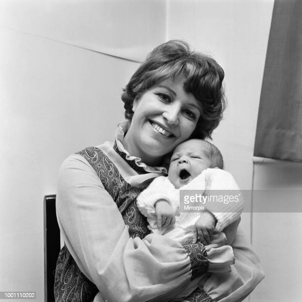 Actress Anne Reid at home in Manchester with her newborn baby son 23rd November 1971