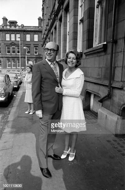 Actress Anne Reid marries Peter Eckersley at Jackson's Row Registry Office Manchester 22nd May 1971