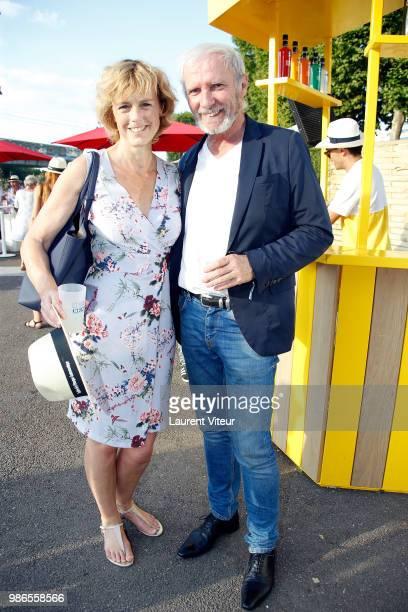 Actress Anne Richard and Actor Geoffroy Thiebaut attend 'Trophee de la Petanque Gastronomique' at Paris Yacht Marina on June 28 2018 in Paris France