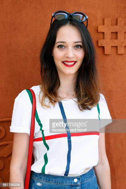 Actress Anne Serra attends the 2017 French Tennis Open Day Five at Roland Garros on June 1 2017 in Paris France