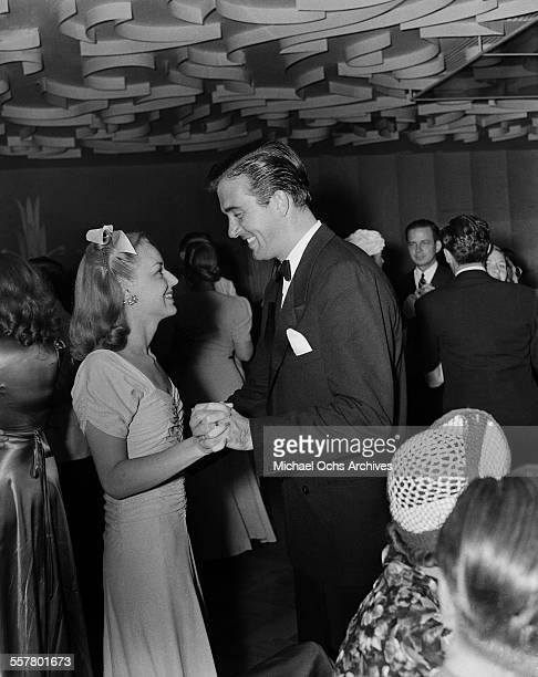 Actress Anne Shirley and husband actor John Payne attend an event in Los Angeles California