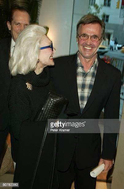 Actress Anne Slater and Designer Michael Vollbracht attend a cocktail party for the introduction of SUR Exclusive Andean Artistry at the Donna Karan...