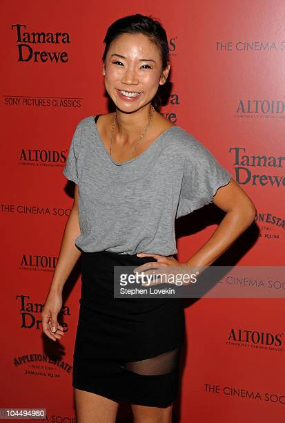 Actress Anne Son attends the Cinema Society and Altoids's screening of 'Tamara Drewe' at the Crosby Street Hotel on September 27 2010 in New York City