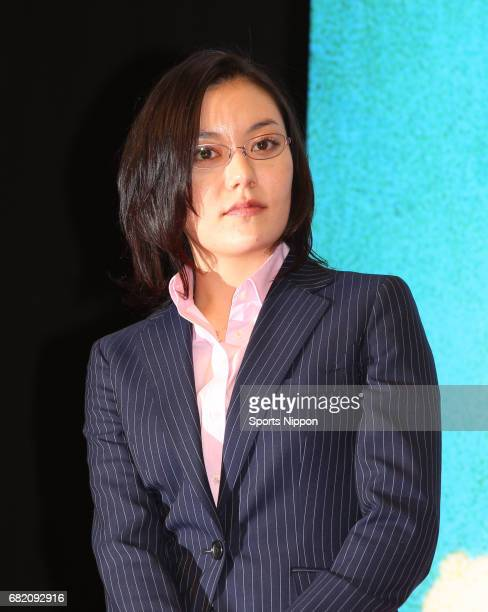 Actress Anne Suzuki attends press conference of film 'Helter Skelter' on February 9 2012 in Tokyo Japan