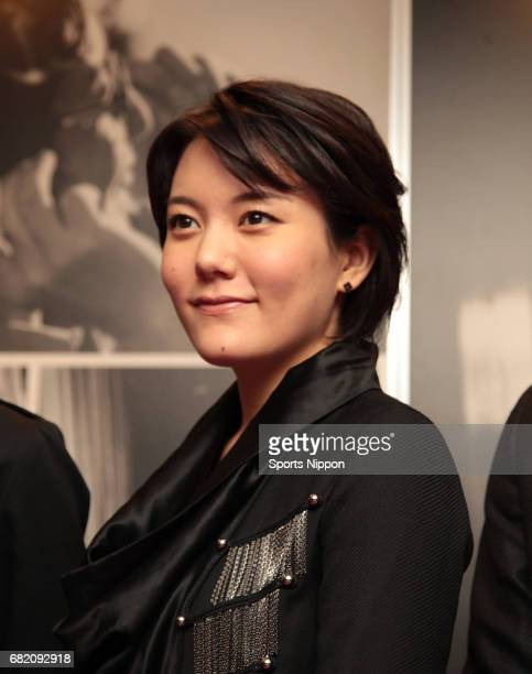 Actress Anne Suzuki attends press conference of stage 'Shin Bakumatsu Jyunjo den' on July 21 2011 in Tokyo Japan