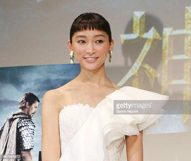 Actress Anne Watanabe attends the PR event of 'Exodus-Gods and Kings' on January 16, 2015 in Tokyo, Japan.