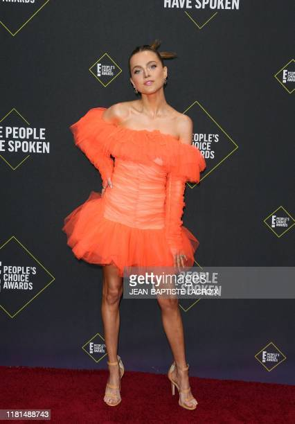 US actress Anne Winters arrives for the 45th annual E People's Choice Awards at Barker Hangar in Santa Monica California on November 10 2019