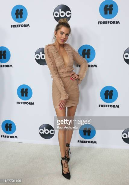 Actress Anne Winters attends the Disney and ABC Television 2019 TCA Winter press tour at The Langham Huntington Hotel and Spa on February 05 2019 in...