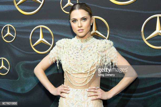 Actress Anne Winters attends the MercedezBenz USA's Official Awards Viewing Party at Four Seasons Hotel Los Angeles at Beverly Hills on March 4 2018...