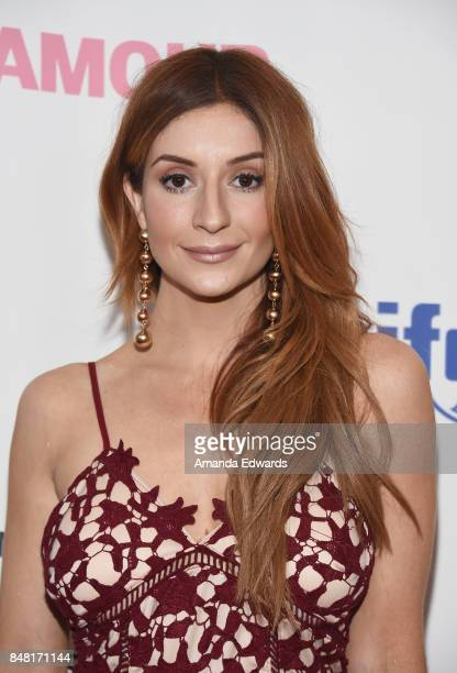 Actress Anneliese van der Pol arrives at the 6th Annual Women Making History Awards at The Beverly Hilton Hotel on September 16 2017 in Beverly Hills...
