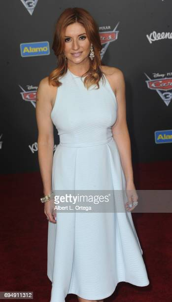 Actress Anneliese van der Pol arrives for the Premiere Of Disney And Pixar's 'Cars 3' held at Anaheim Convention Center on June 10 2017 in Anaheim...