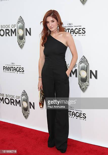 Actress Anneliese van der Pol attends The Book Of Mormon Los Angeles Premiere at the Pantages Theatre on September 12 2012 in Hollywood California