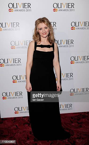 Actress AnneMarie Duff poses in the press room during The Olivier Awards 2011 at Theatre Royal on March 13 2011 in London England