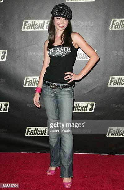 Actress Annemarie Pazmino attends the 'Fallout 3' videogame launch party on October 16 2008 in Los Angeles California