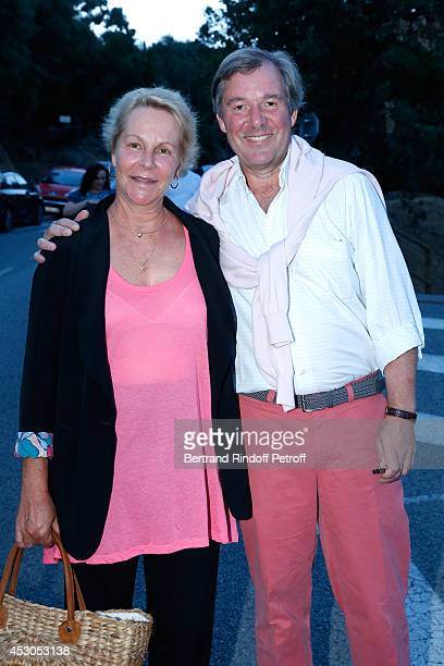 Actress AnneMarie Philipe and her husband journalist Jerome Garcin attend the 30th Ramatuelle Festival on August 1 2014 in Ramatuelle France