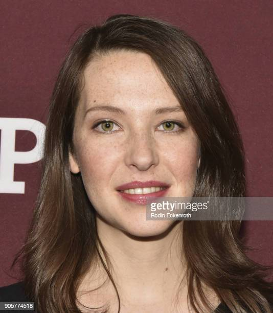 Actress Annes Elwy attends photo call for BBC's Little Women at Langham Hotel on January 16 2018 in Pasadena California