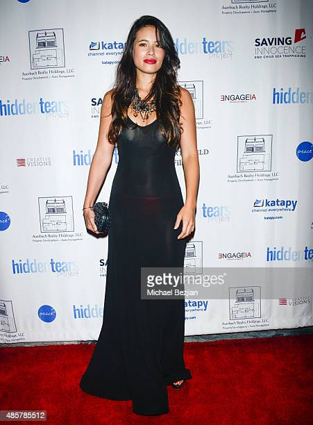 Actress AnneSolenne Hatte attends Hidden Tears project launch at Sofitel Hotel on August 29 2015 in Los Angeles California