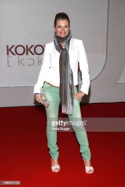 Actress AnneSophie Briest arrives for the ''Kokowaeaeh' Germany Premiere at the CineStar movie theater on January 25 2011 in Berlin Germany