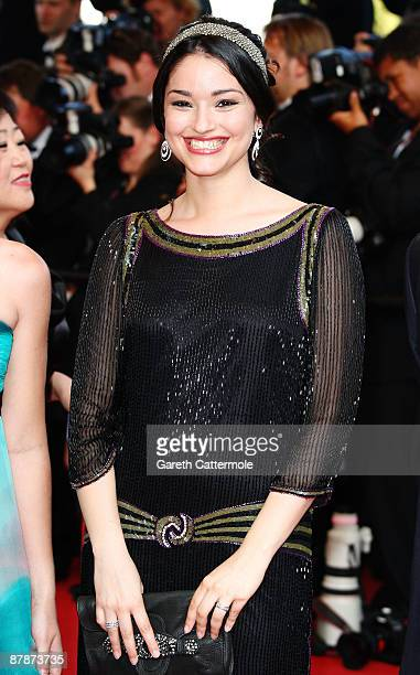 Actress AnneSophie Franck attends the Inglourious Basterds Premiere held at the Palais Des Festivals during the 62nd International Cannes Film...