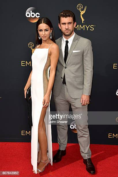 Actress Annet Mahendru and director Lucian Gibson arrive at the 68th Annual Primetime Emmy Awards at Microsoft Theater on September 18 2016 in Los...