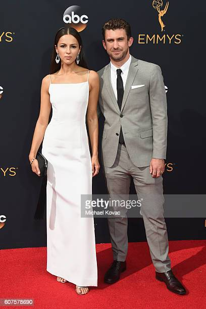Actress Annet Mahendru and director Lucian Gibson attend the 68th Annual Primetime Emmy Awards at Microsoft Theater on September 18 2016 in Los...