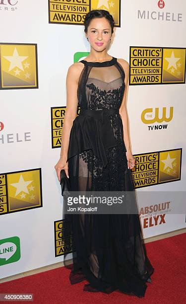 Actress Annet Mahendru arrives at the 4th Annual Critics' Choice Television Awards at The Beverly Hilton Hotel on June 19 2014 in Beverly Hills...