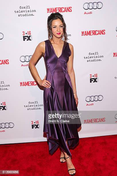 Actress Annet Mahendru attends 'The Americans' Season 4 premiere on March 5 2016 in New York City