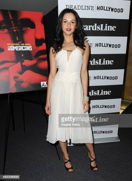Actress Annet Mahendru attends the Awardsline/Deadline screening of The Americans at Landmark Theatre on June 2 2014 in Los Angeles California