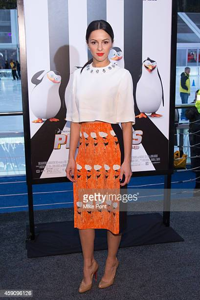 Actress Annet Mahendru attends the 'Penguins Of Madagascar' New York Premiere at Winter Village at Bryant Park Ice Rink on November 16 2014 in New...