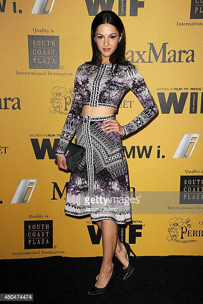 Actress Annet Mahendru attends the Women In Film 2014 Crystal Lucy Awards at the Hyatt Regency Century Plaza on June 11 2014 in Century City...