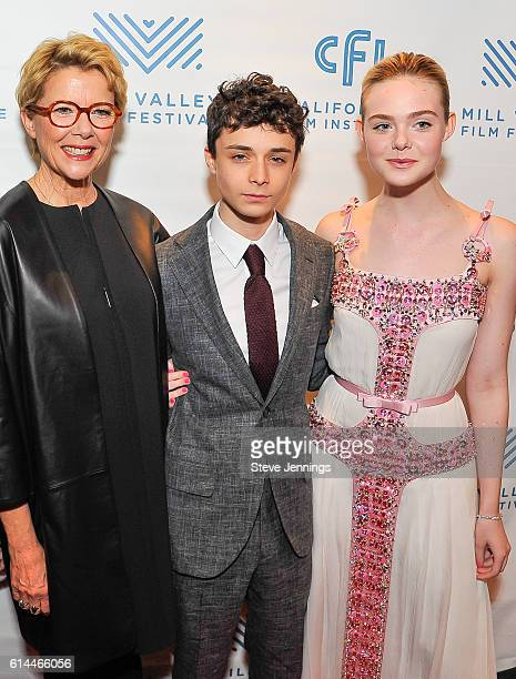 Actress Annette Bening Actor Lucas Jade Zumann and Actress Elle Fanning attend the Premiere Screening of 20th Century Women at the 39th Mill Valley...