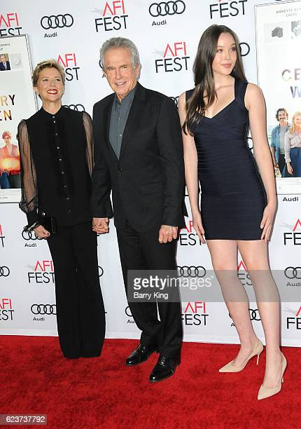 Actress Annette Bening actor/director Warren Beatty and daughter Ella Beatty attend a tribute to Annette Bening and gala screening of A24's '20th...