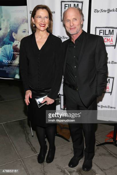 Actress Annette Bening and actor Ed Harris attend the screening of IFC Films' 'The Face Of Love' at LACMA on March 3 2014 in Los Angeles California