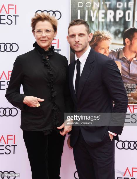 Actress Annette Bening and actor Jamie Bell arrive at the AFI FEST 2017 Presented By Audi screening of 'Film Stars Don't Die In Liverpool' at the TCL...