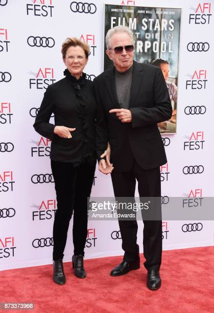 Actress Annette Bening and actor Warren Beatty arrive at the AFI FEST 2017 Presented By Audi screening of 'Film Stars Don't Die In Liverpool' at the...