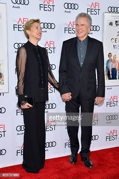 Actress Annette Bening and actor Warren Beatty attend a tribute to Annette Bening and gala screening of A24's 20th Century Women at AFI Fest 2016...