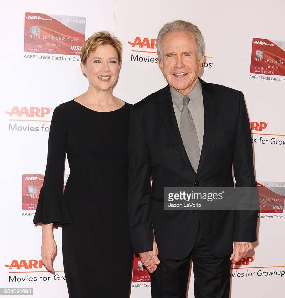 Actress Annette Bening and actor Warren Beatty attend AARP's 16th annual Movies For Grownups Awards at the Beverly Wilshire Four Seasons Hotel on...