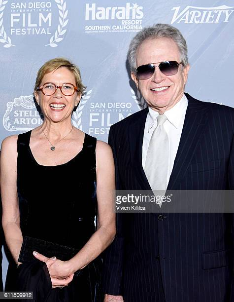 Actress Annette Bening and actor Warren Beatty attend the 2016 San Diego International Film Festival on September 29 2016 in San Diego California