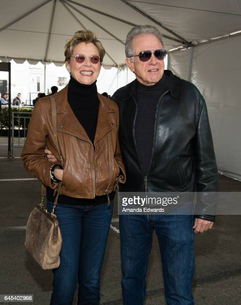Actress Annette Bening and actor Warren Beatty during the 2017 Film Independent Spirit Awards at the Santa Monica Pier on February 25 2017 in Santa...
