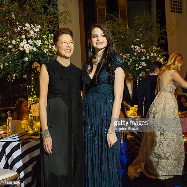Actress Annette Bening and daughter Isabel Beatty are photographed for Vanity Fair Magazine on November 28 2014 at the 2014 Bal des Debutantes at the...