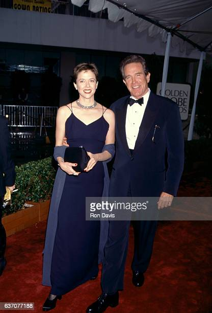 Actress Annette Bening and husband actor Warren Beatty attend the 53rd Annual Golden Globe Awards on January 21 1996 at the Beverly Hilton Hotel in...